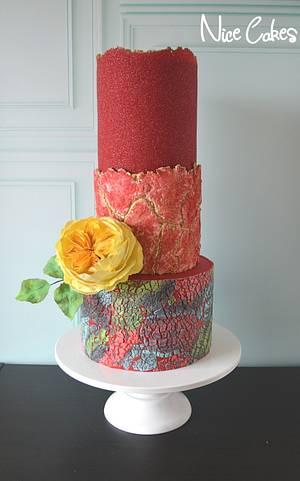 Textured birthday cake - Cake by Paula Rebelo