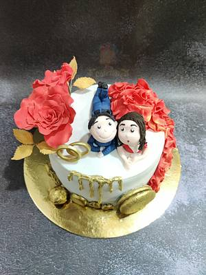 LOVE IS RIGHT HERE - Cake by Cakebake