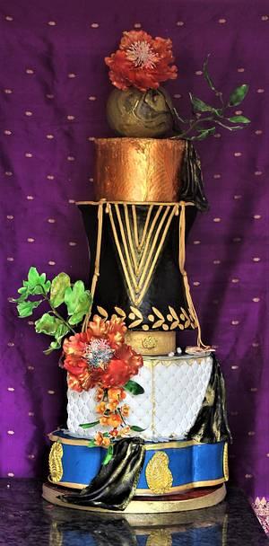Indian fashionista choli cake - Cake by Dr RB.Sudha