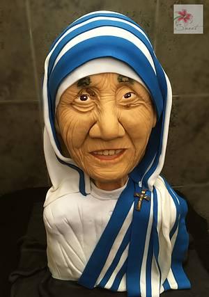Mother Teresa bust cake - Cake by Susanna Sequeira