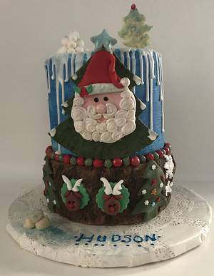 "🎄Happy Birthday Hudson 🎄 - Cake by June (""Clarky's Cakes"")"