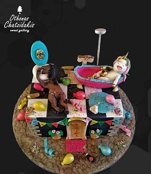 Hangover after Unicorn Party - Cake by Othonas Chatzidakis