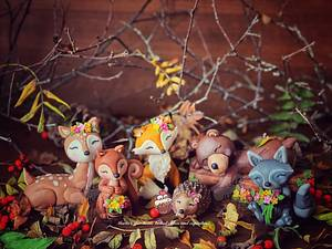 Woodland Creatures Cake Toppers - Cake by Maria's