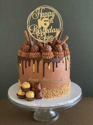 Ferrero Rocher drip cake - Cake by Penny Sue