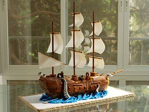 Pirate ship cake - Cake by Cake Lab