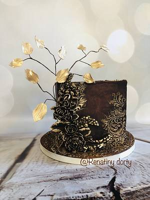 Chocolate in gold - Cake by Renatiny dorty