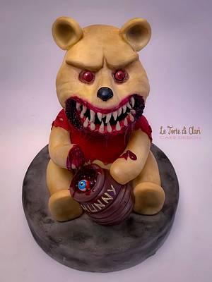 The dark side of Winnie the Pooh my piece for CREEPY WORLD CAKE COLLABORATION by Brenda Salcedo - Cake by Rita Cannova