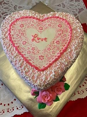 LOVE HEART - Cake by Julia
