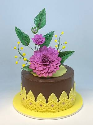Dahlia cake - Cake by Patricia M