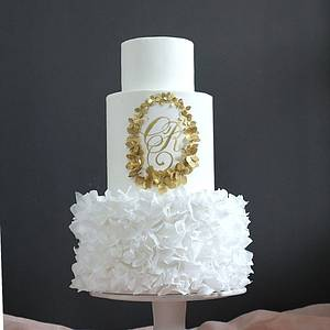 Wafer Paper Monogram - Cake by Anna Astashkina