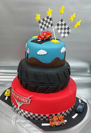 Cake with rubber and cars - Cake by Sunny Dream