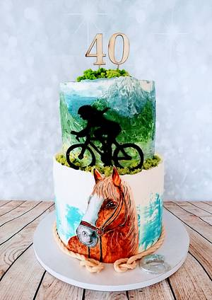 Horse and bike  - Cake by alenascakes