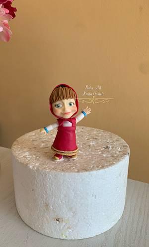 Masha y el oso  en Fondant  - Cake by karla garrote