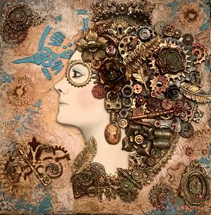 Woman in mind - Steampunk Collaboration 2020 - Cake by Rita Cannova