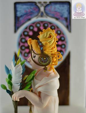 Feather - Art Nouveau Meets the Cake Artists - A Cake Collective collaboration - Cake by Cake Angel by Marisa Kemp