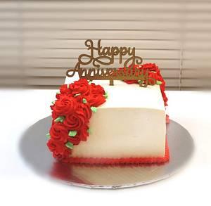 Wedding Anniversary Cake - Cake by Shilpa Kerkar