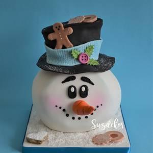 Snowman Cake  - Cake by Susanne Zöchling