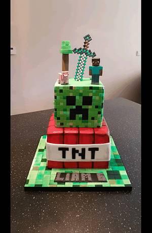 Minecraft  - Cake by Fab-Feest