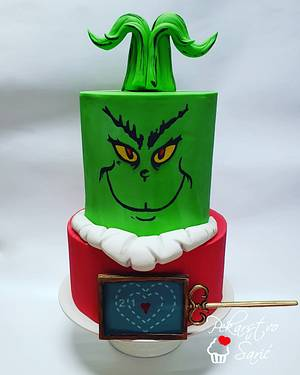 You're a mean one, Mr. Grinch! 💚 - Cake by Ana