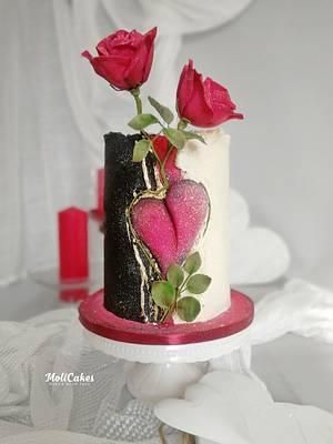 be my valentine... - Cake by MOLI Cakes