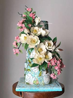 Magnolia cake.... - Cake by More_Sugar