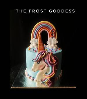 Unicorn rainbow cake - Cake by thefrostgoddess