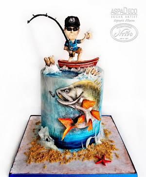 """Fisherman Cake"" - Cake by Aspasia Stamou"