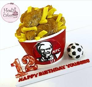 KFC Cake🍗♥️ - Cake by Hend Taha-HODZI CAKES