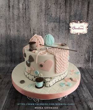 crochet cake - Cake by mona ghobara/Bonboni Cake