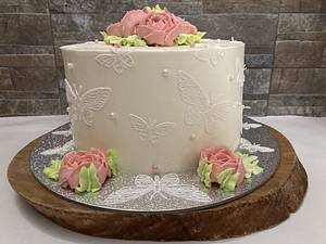 Butterfly  - Cake by Snezhana