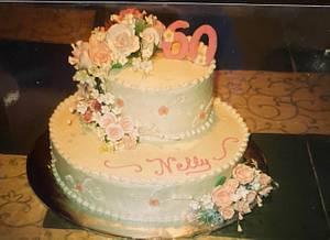 Sis' 60th Birthday - Cake by Julia