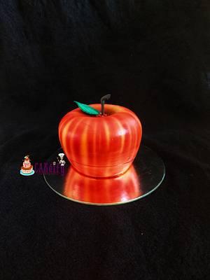 Apple shaped cake - Cake by Nikita shah
