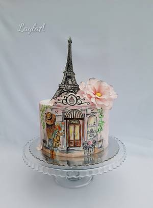 Paris & Eiffel Tower  - Cake by Layla A