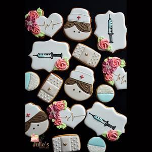Sweet nurse cookies :) - Cake by Julie's Sweet Cakes
