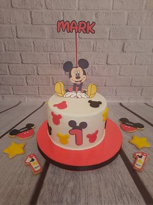"""""""Mickey Mouse Candy Bar"""" - Cake by Noha Sami"""