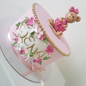 Sweet teddy bear girl💖 - Cake by MarinaM