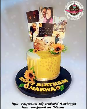 Sunflower cake  - Cake by Dolly Hamada
