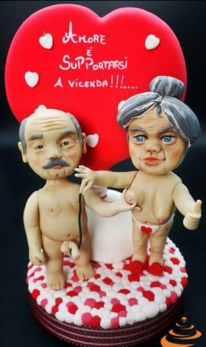 San Valentino.. Vintage - Cake by Dolce zucchero