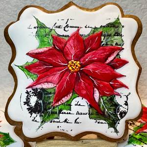 Poinsettia - Cake by Andrea