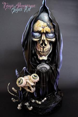 The Grim Squeaker and The Grim Reaper - Cake by Tanya Shengarova