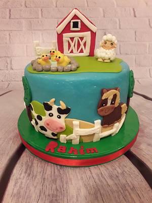 Animals Farm cake - Cake by Noha Sami