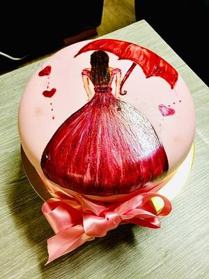 Hand painted chocolate cake - Cake by Polina karadzhova