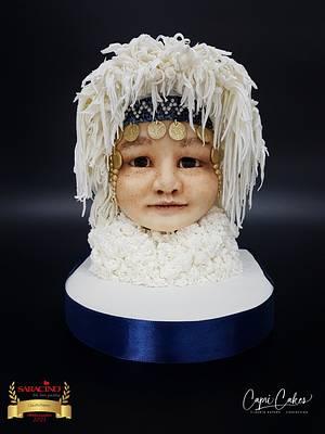 Nenet girl from Seberia  - Cake by Claudia Kapers Capri Cakes