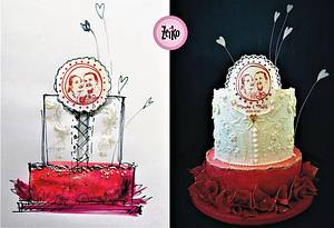 wedding cake - Cake by Torty Zeiko