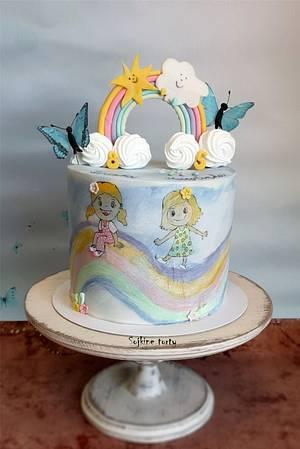 Sun+Rain=Rainbow:) - Cake by SojkineTorty
