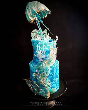 Under the sea wedding cake - Cake by designed by mani