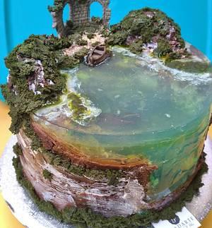 Jelly Island Cake - Cake by Paladarte El Salvador