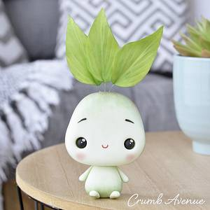 Little Plant Cake Topper - Cake by Crumb Avenue