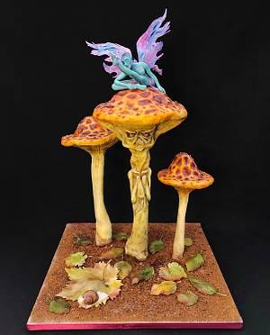 The mushrooms by Victoria Zagorodnya  - Cake by Victoria