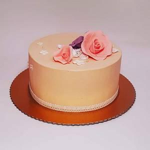 Beige cake - Cake by Zerina